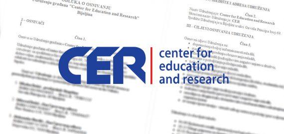 """Donjeta odluka o osnivanju udruženja građana """"CER"""""""