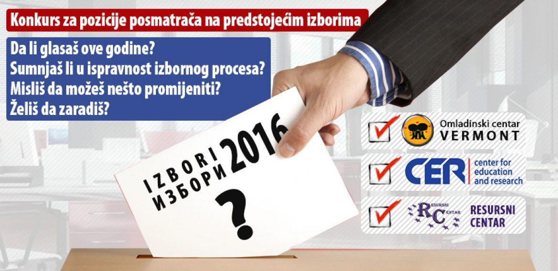 Prijavite se za nestranačko posmatranje Lokalnih izbora 2016